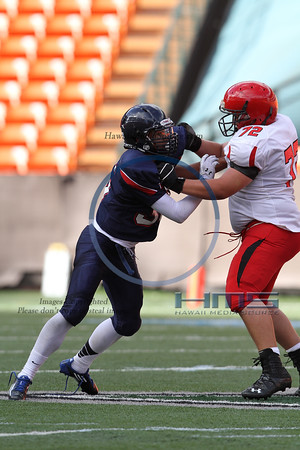 Kahuku JV Football - STL 8-17-13