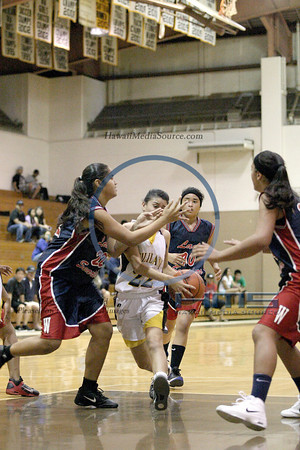 Waianae Girls JV Basketball - Mili 1-3-14