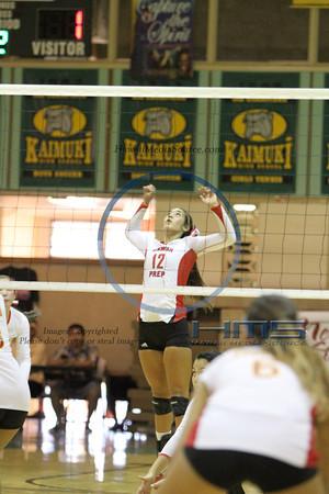 Hawaii Prep Girls Volleyball - Roos 10-30-13