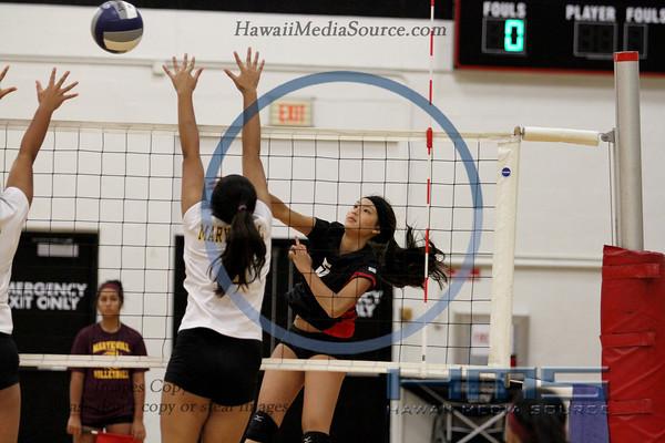 Iolani Girls Volleyball - Mkn 9-3-13
