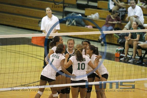 Konawaena Girls Volleyball - Uni 10-30-13
