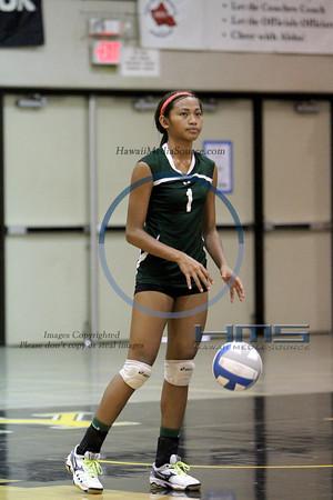 Konawaena Girls Volleyball - Hana 10-29-13