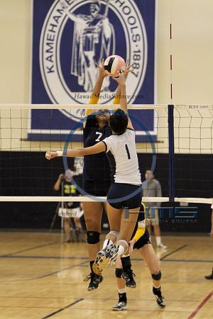 Punahou Girls Volleyball - KS 10-24-13