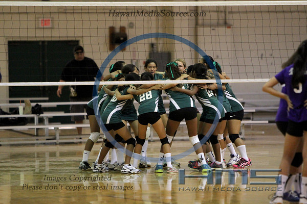 University Intermediate Girls Volleyball - Damien 9-21-13