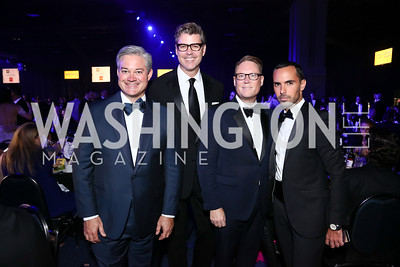 Mark Lowham, Jeff Wilson, Timothy Lowery, Ludo Barras. Photo by Tony Powell. 2015 HRC Gala. Convention Center. October 3, 2015