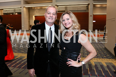 Jeff Kesler, Courtney Wells Fusco. Photo by Tony Powell. 2015 HRC Gala. Convention Center. October 3, 2015