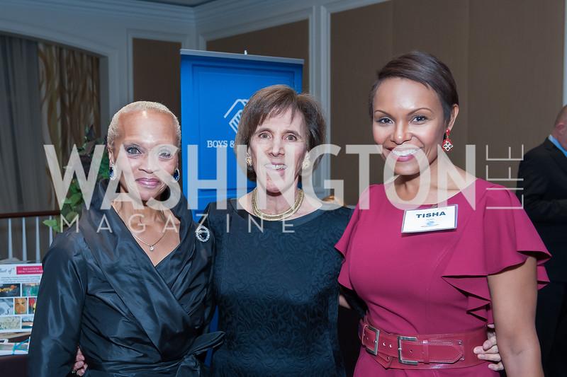 Lucia Riddle, Patty Andringa, Tisha Hyter. Photo by Tony Powell. BGCGW ICON 15. Ritz Carlton Tysons. November 9, 2015