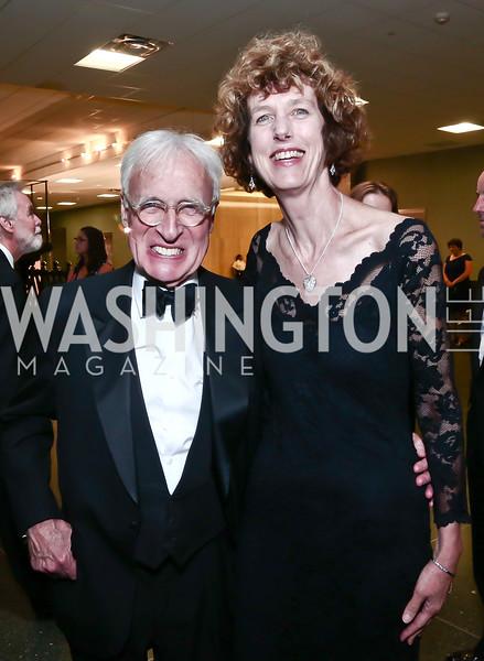 Foundation Trustee Bill Truslow, Julia Childs' niece Philadelphia Cousins. Photo by Tony Powell. Inaugural Smithsonian Food History Gala. October 22, 2015