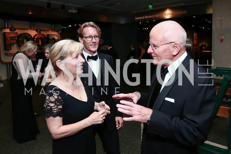Sara Moulton, Julia Child Foundation Chairman Eric Spivey, NMAH Director John Gray. Photo by Tony Powell. Inaugural Smithsonian Food History Gala. October 22, 2015
