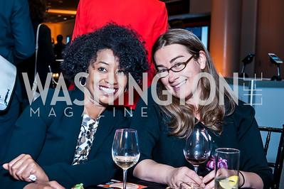 Amelia Carvalho, Elizabeth Latham. Photo by Tony Powell. IWMF Reporta Launch. Newseum. October 2, 2015