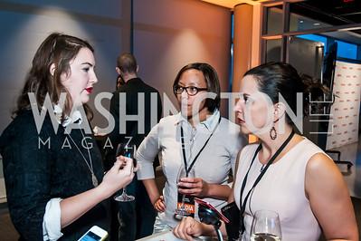 Hannah Stonebreaker, Calece Hilliard, Jocelyn Prudencio. Photo by Tony Powell. IWMF Reporta Launch. Newseum. October 2, 2015
