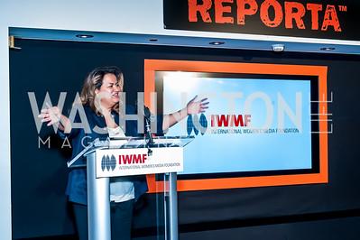 Lakshmi SIngh. Photo by Tony Powell. IWMF Reporta Launch. Newseum. October 2, 2015