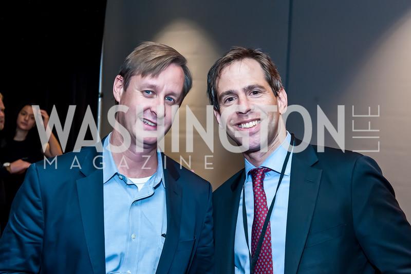 Bill O'Leary, Paul Freedman. Photo by Tony Powell. IWMF Reporta Launch. Newseum. October 2, 2015