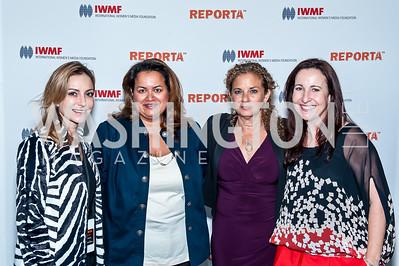 Pilar O'Leary, Lakshmi Singh, Heidi Levine, Elisa Lees Munoz. Photo by Tony Powell. IWMF Reporta Launch. Newseum. October 2, 2015
