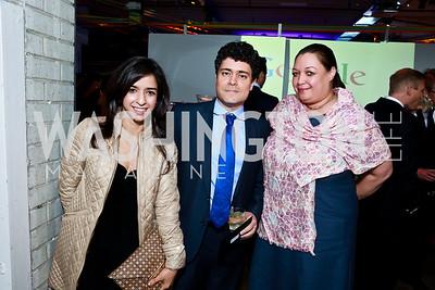 Nika Nour, Andre Barlow, Camelia Mazard. Photo by Tony Powell. Internet Association 2015 Charity Gala. April 14, 2015
