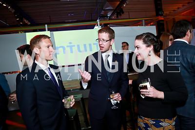 Jonathan Smith, Derek Kilmer, Sarah Hudgins. Photo by Tony Powell. Internet Association 2015 Charity Gala. April 14, 2015