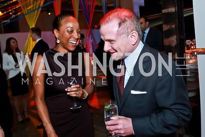 Yahoo VP Tekedra Mawakana, Douglas Miller. Photo by Tony Powell. Internet Association 2015 Charity Gala. April 14, 2015