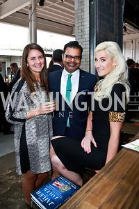 Sarah Kerner, Suhail Khan, Christina Aiuto. Photo by Tony Powell. Internet Association 2015 Charity Gala. April 14, 2015