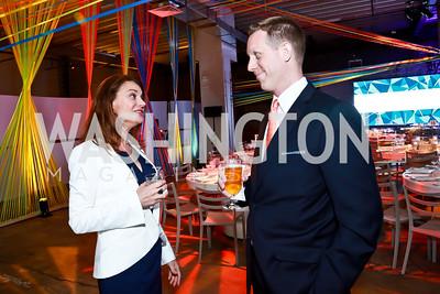 Amazon VP Kelly Jo MacArthur, Ben Gielow. Photo by Tony Powell. Internet Association 2015 Charity Gala. April 14, 2015