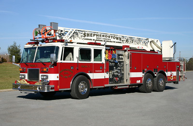 Truck 3's 1996 Pierce Arrow, 1500/500, 75', sn- EA154-01.  ex - Menlo Park, California.  For sale after the arrival of the new Pierce.
