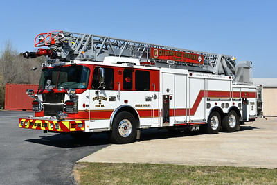Charles Town, West Virginia - Citizens Fire Company Truck 2 is a 2016 Spartan Metro/Smeal Sirius 105' placed into service in February of 2017.  It replaced a 1991 Pierce Arrow 105'.