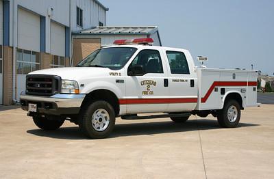 Utility 2 is a 2003 Ford F-350/2011 Knapheide.