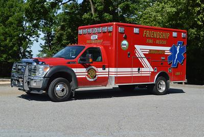Ambulance 1 is a 2010 Ford F-450/Wheeled Coach.