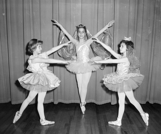 Three young girls strike a pose. Was this at dance class, or during a performance? If you recognize the girls, share the information under the photo online at the Effingham Daily News Facebook page.