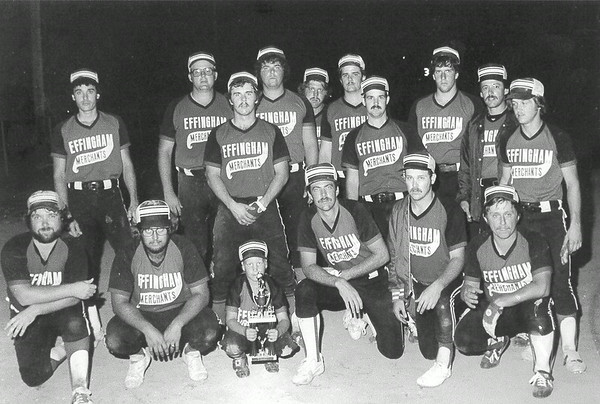 This photo of the Effingham Merchants was dated June 18, 1981, but the team members were not identified. The photo was shared by Ruth Wright who said a family member discovered the photo. Do you recognize any of the team members? If so, share the information below.