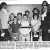 An Effingham Daily News reader brought this clipping in to share. The photo was taken approximately 32 years ago at Village Square Mall, Effingham. The 4th, 5th and 6th grade students from St. Anthony Grade School were winners in the first annual Jayceettes haunted house poster contest. Shown, front row from left, are Mike Thompson, Doug Koester, Denise Eden and Patti Kinkelaar, Jayceette sponsor and teacher; back row, Sister Mary Jane, principal, Bobby Eden, Tony Stephens, Tim Goldstein, Connie Bloemer and Lin Held, Jayceette sponsor and teacher.