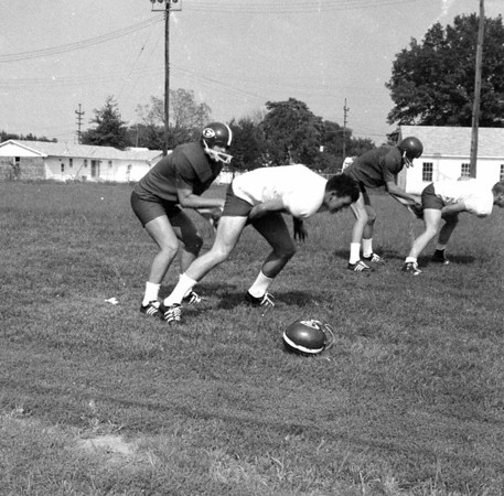 It looks like football practice from years gone by. Do you know any of the players? If so, share the information online under the photo or at the Effingham Daily News Facebook page.