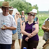 Guests listen in during Flats Mentor Farm's 2nd Annual Tour de Farm on Friday afternoon. SENTINEL & ENTERPRISE / Ashley Green