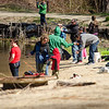 Families gathered at Barrett Park in Leominster on Saturday morning to participate in a fishing derby. SENTINEL & ENTERPRISE / Ashley Green