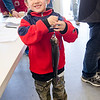 Anthony Comeau, 6, shows off his catch during the Barrett Park fishing derby on Saturday morning in Leominster. SENTINEL & ENTERPRISE / Ashley Green