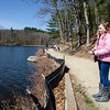 Megyn Przyoeck waits for a bite during the Barrett Park fishing derby on Saturday morning in Leominster. SENTINEL & ENTERPRISE / Ashley Green