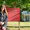 Meeting Grants Administrator Wendy Wiiks shows off the Drake House, a historic house that was used in the Underground Railroad in Leominster. SENTINEL & ENTERPRISE / Ashley Green