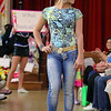 Ketheny Dutka models in clothes from Sol Brazil in Leominster during the fashion show at the Ladies Night Out at the City Hall on Thursdays night. SENTINEL & ENTERPRISE/JOHN LOVE