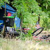 Homeless camps can be seen in the wooded area behind Barnes and Noble in Leominster. SENTINEL & ENTERPRISE / Ashley Green