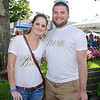 Shannon Malloy and Simon Shortt, engaged to be married next summer, hang out at the Johnny Appleseed Craft Beer Festival in downtown Leominster on Saturday afternoon. SENTINEL & ENTERPRISE / Ashley Green