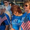 Left-Right Tony Fiduccia, Mary Brooks and Donna Fiduccia attend a Peace Vigil in Monument Sq. SENTINEL&ENTERRPRISE/ Jim Marabello