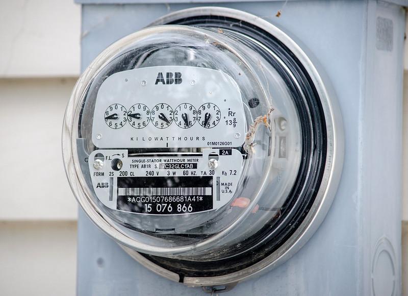 A Leominster National Grid customer's meter. SENTINEL & ENTERPRISE / Ashley Green
