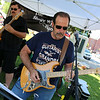 Bob Gale plays the guitar with The Shelly Wilson Band at the Leominster Summer Stroll in downtown on Saturday afternoon. SENTINEL & ENTERPRISE/JOHN LOVE
