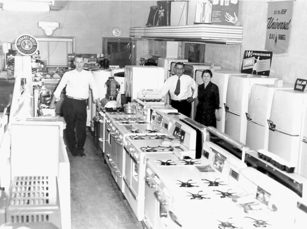 New stoves and refrigerators are on display at this appliance store. Do you recognize the people or the place? Post the information under the photo on the Effingham Daily News Facebook page.