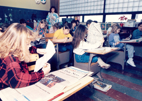 Students use the Effingham Daily News for lessons in their classroom. Do you recognize anyone in the photo? Do you know when it was taken? Share the information online at the Effingham Daily News Facebook page.