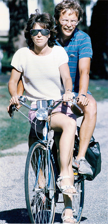 Two on a bicycle built for one. Do you recognize them? Post the information under the photo on the Effingham Daily News Facebook page.