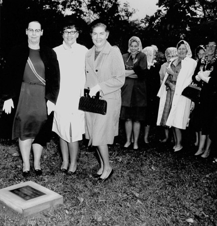 A group of ladies gather at Ewington Cemetery in the late 1960s. Can anyone tell us why the gathering took place, or what was being dedicated or honored?