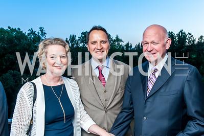 Susan Eisenhower, Anton Fedyashin, Michael Pillsbury. Photo by Tony Powell. Lucky Roosevelt NPR party. September 11, 2015