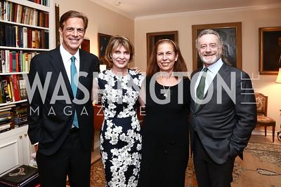 Michael Beschloss, Pamela Mohn, Afsaneh Beschloss, Jarl Mohn. Photo by Tony Powell. Lucky Roosevelt NPR party. September 11, 2015