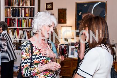 Diane Rehm, Marie Arana. Photo by Tony Powell. Lucky Roosevelt NPR party. September 11, 2015