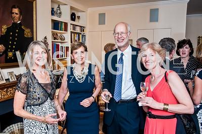Rita Braver, Adrienne Arsht, Jim Feldman, Natalie Wexler. Photo by Tony Powell. Lucky Roosevelt NPR party. September 11, 2015